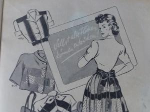 """Ausschnitt aus """"Berlins Modenblatt"""", ca. 1948. Foto © Rose Wagner"""