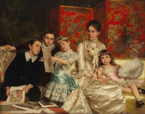 Michele Gordigiani, Cornelia Ward Hall and Her Children, 1880. Öl auf Leinwand.  Foto © Museum of the City of New York