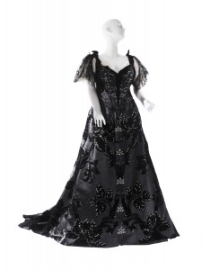 Abendkleid aus Samt von Maison Worth, ca. 1894, getragen von Mrs. Stanford White. Foto © Museum of the City of New York