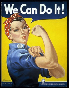 "Plakat ""Rosie the Riveter"", ca. 1942. Foto © J. Howard Miller / Museum of American History, Washington, DC."