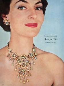 Modeschmuck für Dior mit dem Aurora-Borealis-Kristall, 1960. Foto © Swarovski