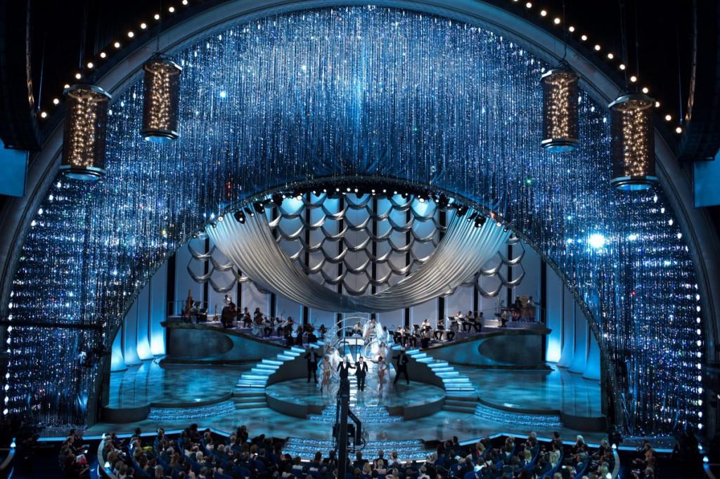Vorhang aus 100.000 Swarovski-Kristallen für die Oscar-Verleihung, David Rockwell, 2010. Foto © AMPAS / Swarovski
