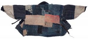 Arbeitsjacke, spätes 19. Jahrhundert, mit Indigo und Färberdistel gefärbte Baumwolle, Sashiko-Stickerei.  Foto © Museum für Ostasiatische Kunst Köln