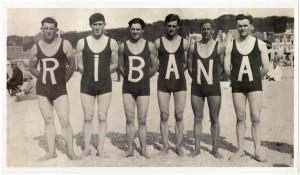 Werbung für Ribana-Herrenbadeanzug, 1920, Maute Benger GmbH. Foto © HdGBW