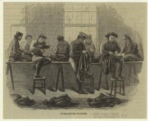 Schneider im Armenhaus, USA, ca. 1866. © Digitale Sammlung New York Public Library