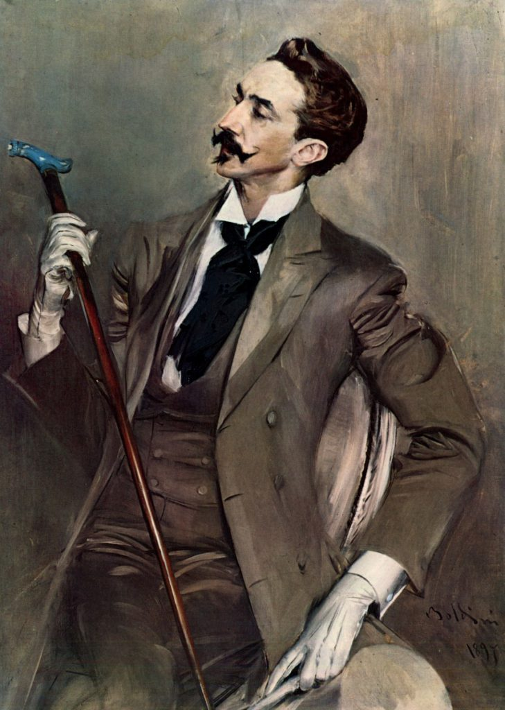 Dandy Robert de Montesquiou, Gemälde von Giovanni Boldini, 1897, Musée d'Orsay, Paris. Foto © Wikimedia Commons