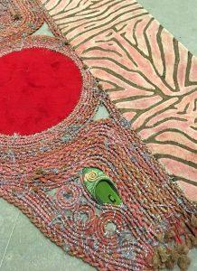 Teppich im Verkaufsraum. Ausschnitt. Foto © Rose Wagner