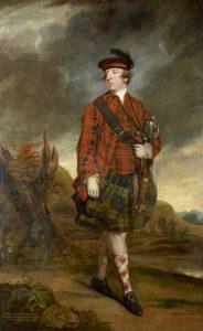 """Beispiel für einen little kilt. Joshua Reynolds, 1765: """"John Murray, 4th Earl of Dunmore"""". © National Galleries of Scotland: www.nationalgalleries.org/art-and-artists/8802/john-murray-4th-earl-dunmore"""