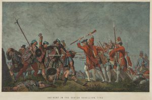 "Ernest Griser: ""An Incident in the Scotch Rebellion 1745. A battle scene between Jacobite and Government troops"" © National Galleries of Scotland: www.nationalgalleries.org/"