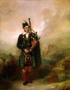 """Erster Königlicher Dudelsackpfeifer. Alexander Johnston, 1840: """"Angus MacKay. Piper to Queen Victoria"""". © National Galleries of Scotland: www.nationalgalleries.org/art-and-artists/3109/angus-mackay-1813-1859-piper-queen-victoria-1843-1854"""