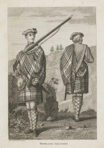 """Unbekannter Künstler, 1786: """"An officer and sergeant of a Highland Regiment"""". © National Galleries of Scotland: www.nationalgalleries.org/art-and-artists/44988/officer-and-sergeant-highland-regiment"""