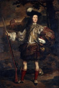 "Beispiel für einen belted plaid. John Michael Wright, ca. 1683: ""Lord Mungo Murray"". © National Galleries of Scotland: www.nationalgalleries.org/art-and-artists/3361/lord-mungo-murray-am-morair-mungo-moireach-1668-1700-son-1st-marquess-atholl"